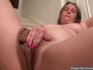 american, ass, ass hole, boss, fingering, granny, naughty, riding