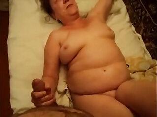 ass, couple, cum, cumshot, granny, handjob, nude, oral
