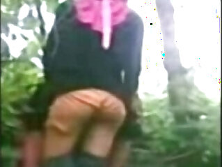 hijab - Indonesia Jilbab Hijab Girl get Fucked by BF in a Jungle