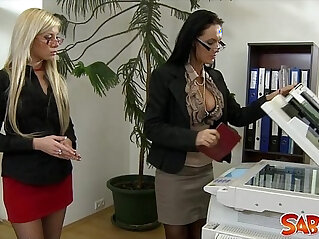 office - Office Lesbians Go At It