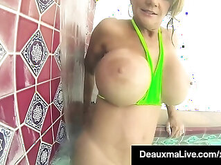 bathing, chinese tits, MILF, nude, pornstar, pussy, rubbing, solo