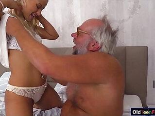 ass, cum, grandpa, jerking, kissing