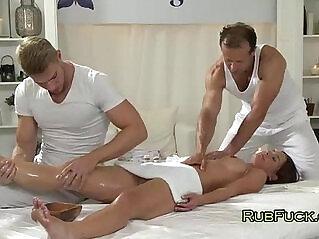 ass, brunette, cum, hottie, massage