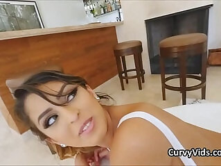 behind, booty, latina, oiled, pounding