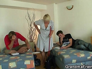 3some, bitch, friend, grandma, old
