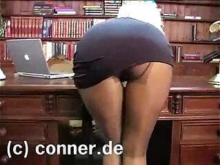 office, panties, pantyhose, stepmom
