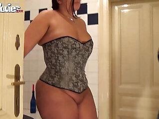 chinese tits, cum, panties